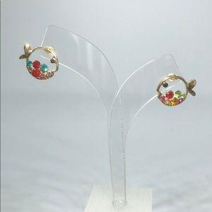 NWOT Betsy Johnson Fish Earrings